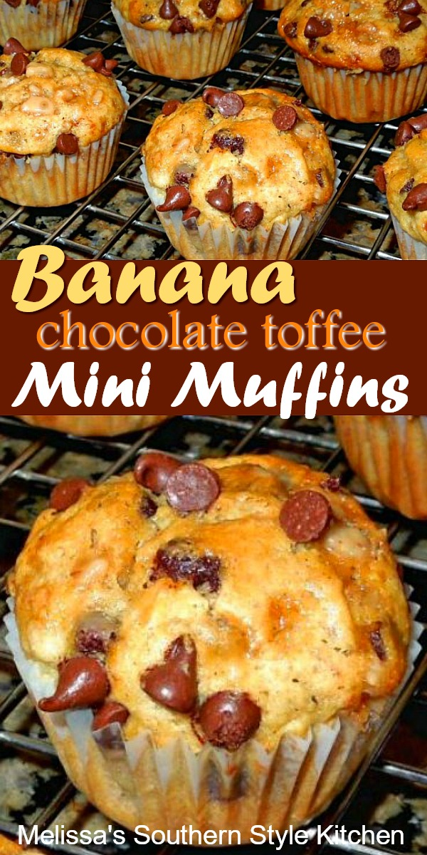 Banana Chocolate Toffee Mini Muffins