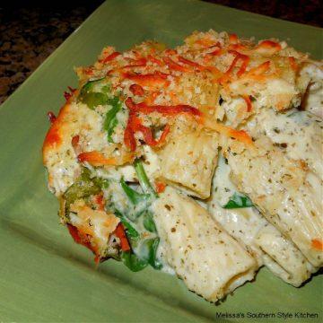 alfredo-chicken-and-ham-rigatoni-casserole