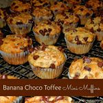 Banana Choco-Toffee Mini Muffins