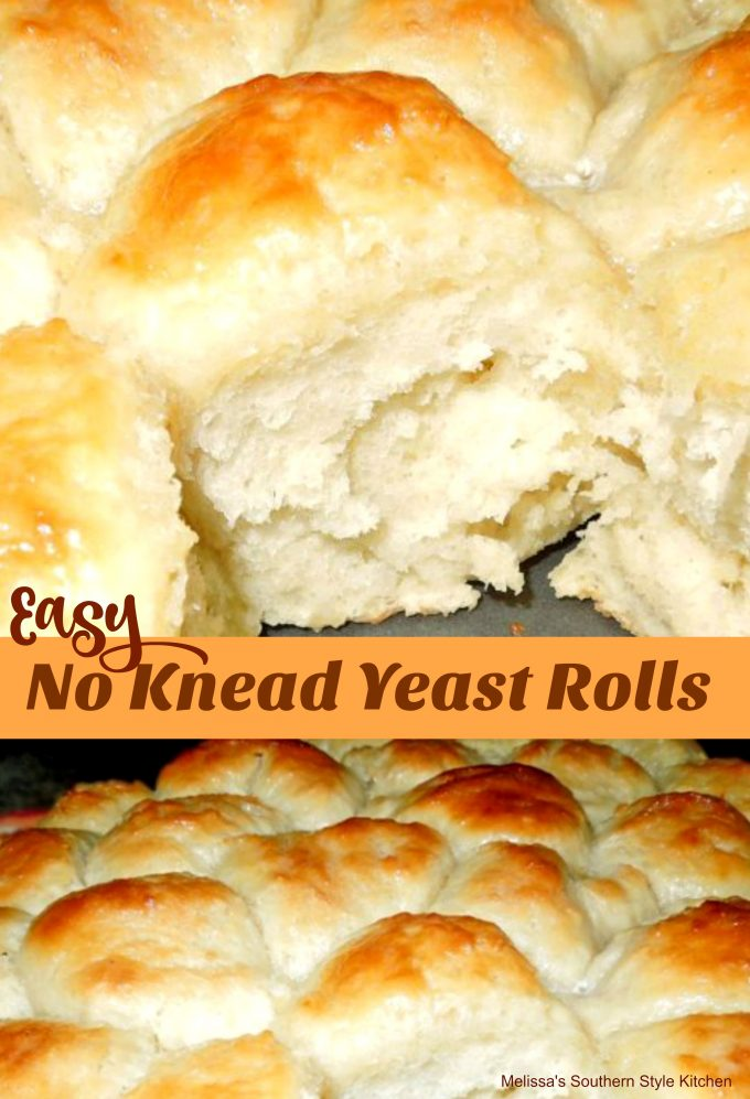 Easy No Knead Yeast Rolls