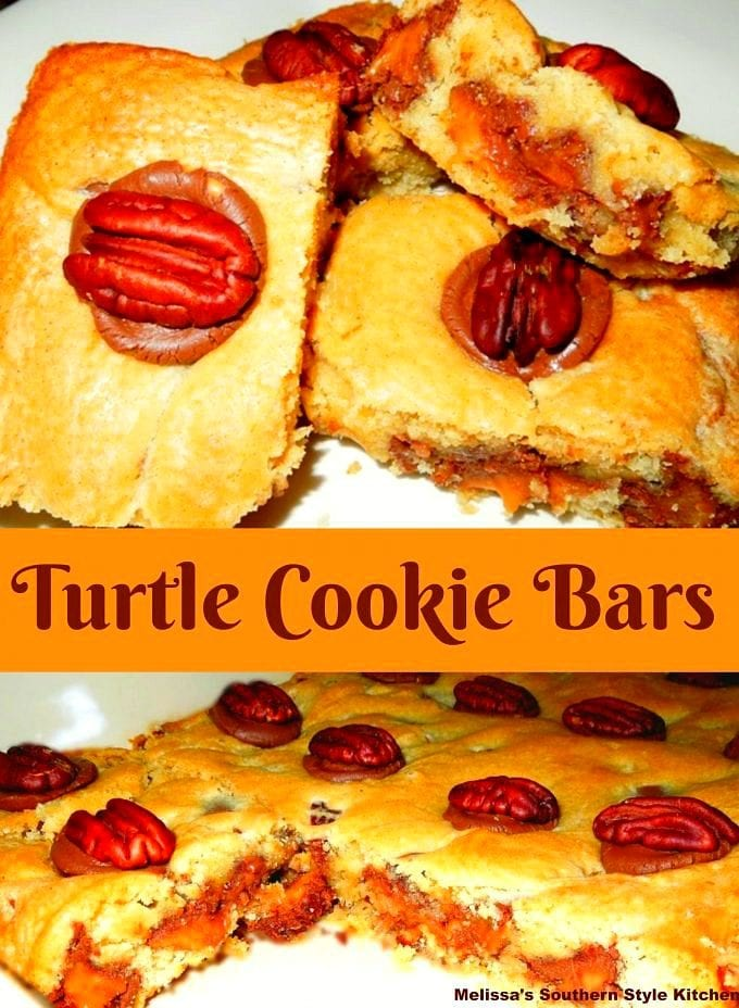 Turtle Cookie Bars