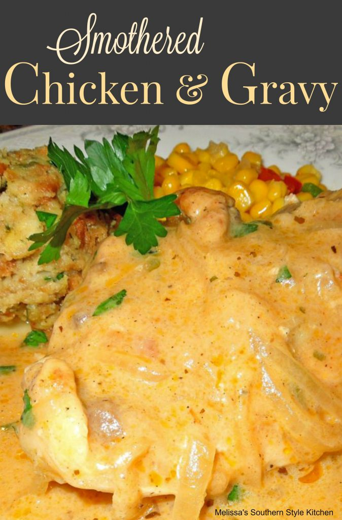 Smothered chicken and gravy melissassouthernstylekitchen smothered chicken and gravy forumfinder Gallery
