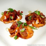 Maple-Chipotle Barbecue Chicken Bites with Bacon