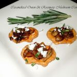Caramelized Onion And Rosemary Mushroom Canapes