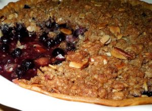 Lemon Blueberry Cobbler Pie