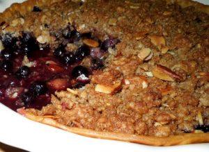 Lemon Blueberry Cobbler Pie