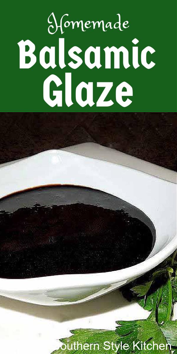 balsamic glaze in a bowl