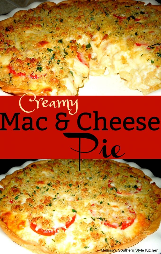 Creamy Mac And Cheese Pie