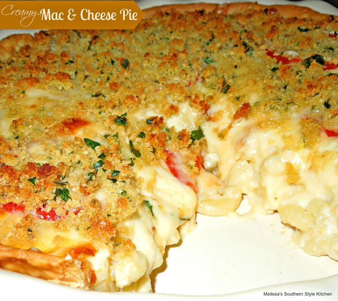 Creamy Mac & Cheese Pie