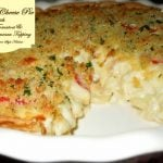 Creamy Mac And Cheese Pie With Plum Tomatoes And Garlic Parmesan Crumb Topping