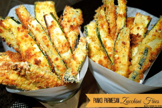 Panko-Parmesan Crusted Zucchini Fries