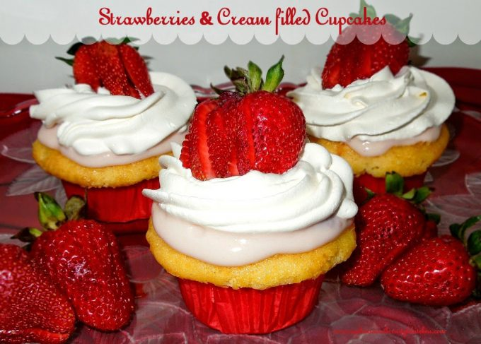 Chocolate Cake Filled With Strawberries And Whipped Cream