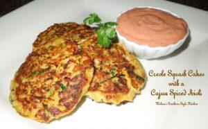 Creole Squash Cakes With A Cajun Spiced Aioli
