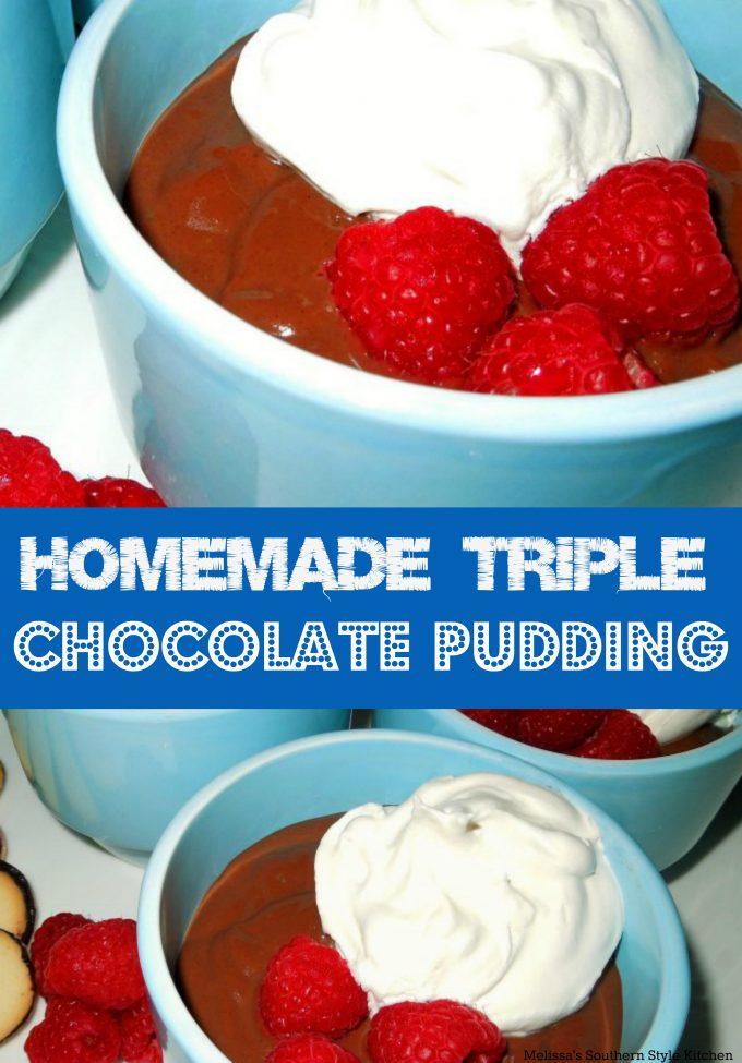 Homemade Triple Chocolate Pudding