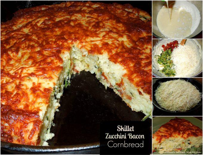 Skillet Zucchini Bacon Cornbread