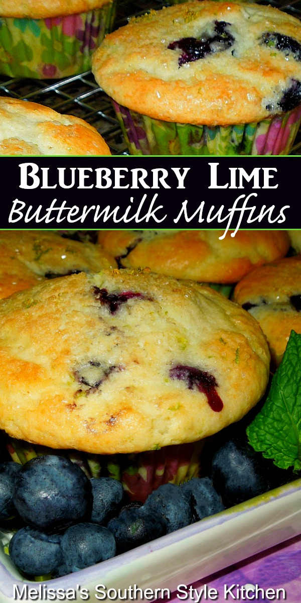 Filled with tangy lime zest and plump fresh berries these Blueberry Lime Buttermilk Muffins are a spectacular way to start your day #blueberrymuffins #lime #blueberrymuffinrecipe #blueberrylimemuffins #brunch #bread #desserts #dessertfoodrecipes #southernfood #southernrecipes #blueberries #buttermilkmuffins