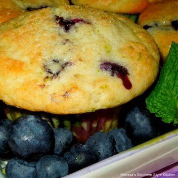 Blueberry Lime Buttermilk Muffins recipe