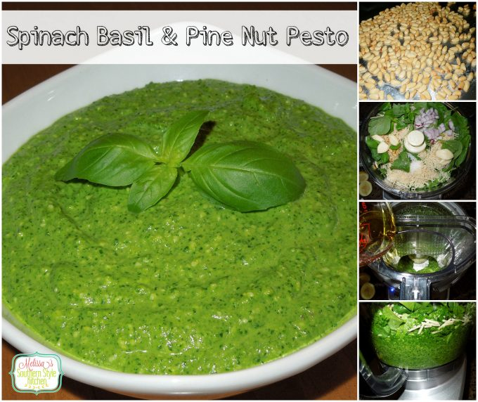 Spinach Basil And Pine Nut Pesto
