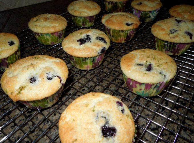 Blueberry Lime Buttermilk Muffins - melissassouthernstylekitchen.com