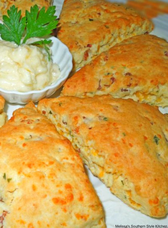 Savory Bacon And Cheddar Scones with Pineapple Butter
