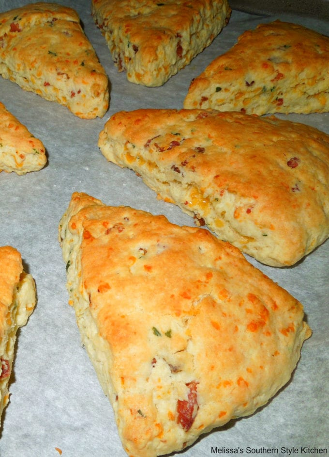 scones on a baking sheet