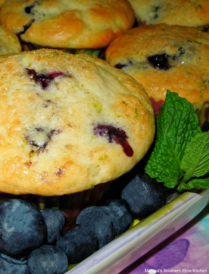 easy Blueberry Lime Buttermilk Muffins