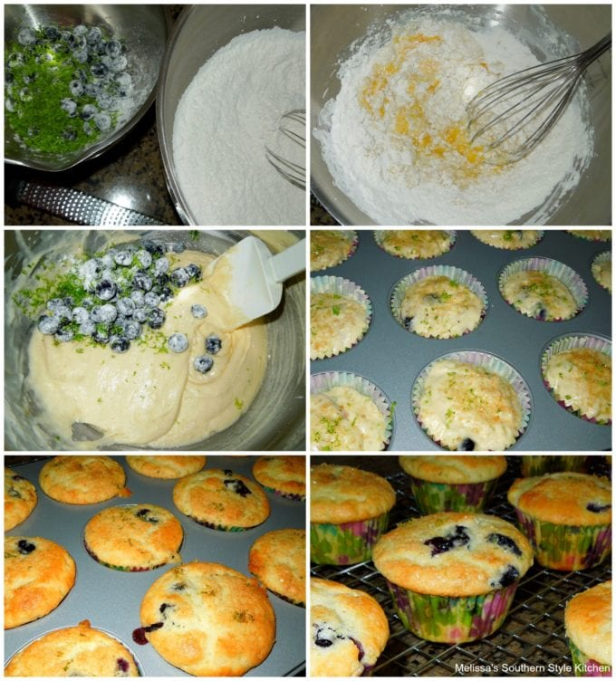 how to make blueberry lime muffins