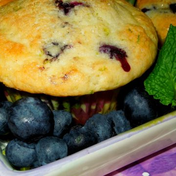 Blueberry Lime Buttermilk Muffins
