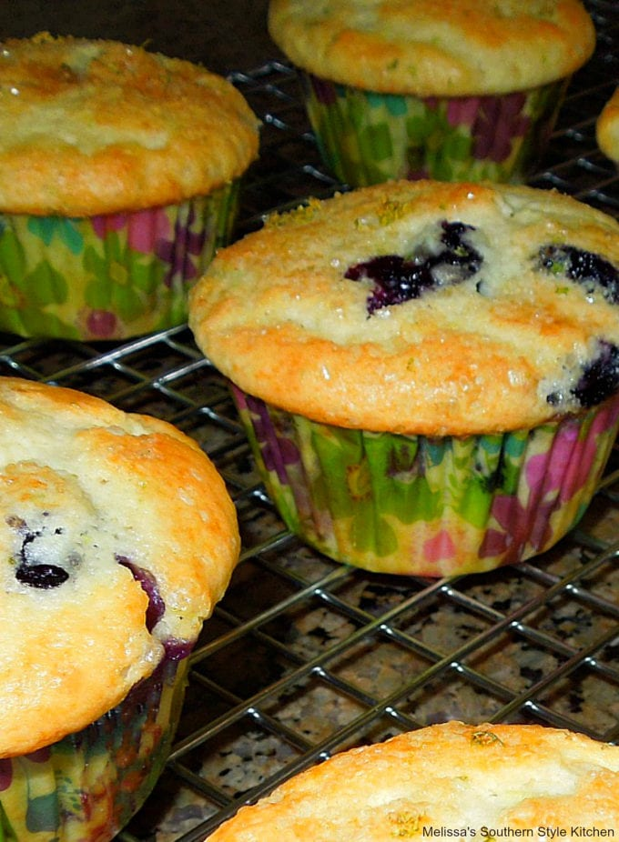 baked blueberry lime buttermilk muffins