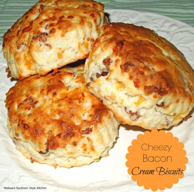 Cheddar Bacon Cream Biscuits Recipe — Dishmaps