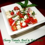 Cherry Tomato, Basil And Feta Salad