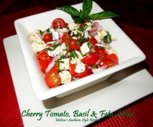 Cherry Tomato, Basil And Feta Salad
