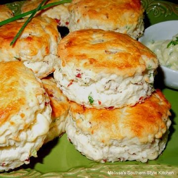 baked Beef and Bleu Cheese Biscuits