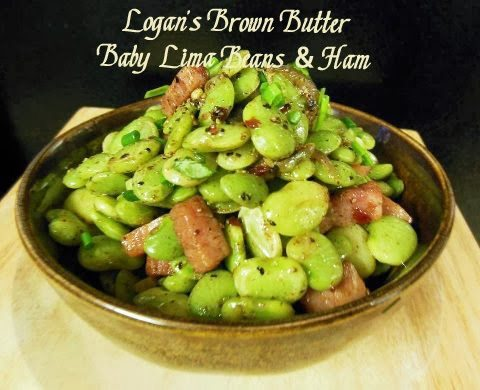 Logan 39 s brown butter baby lima beans and ham for How to cook fresh lima beans from garden