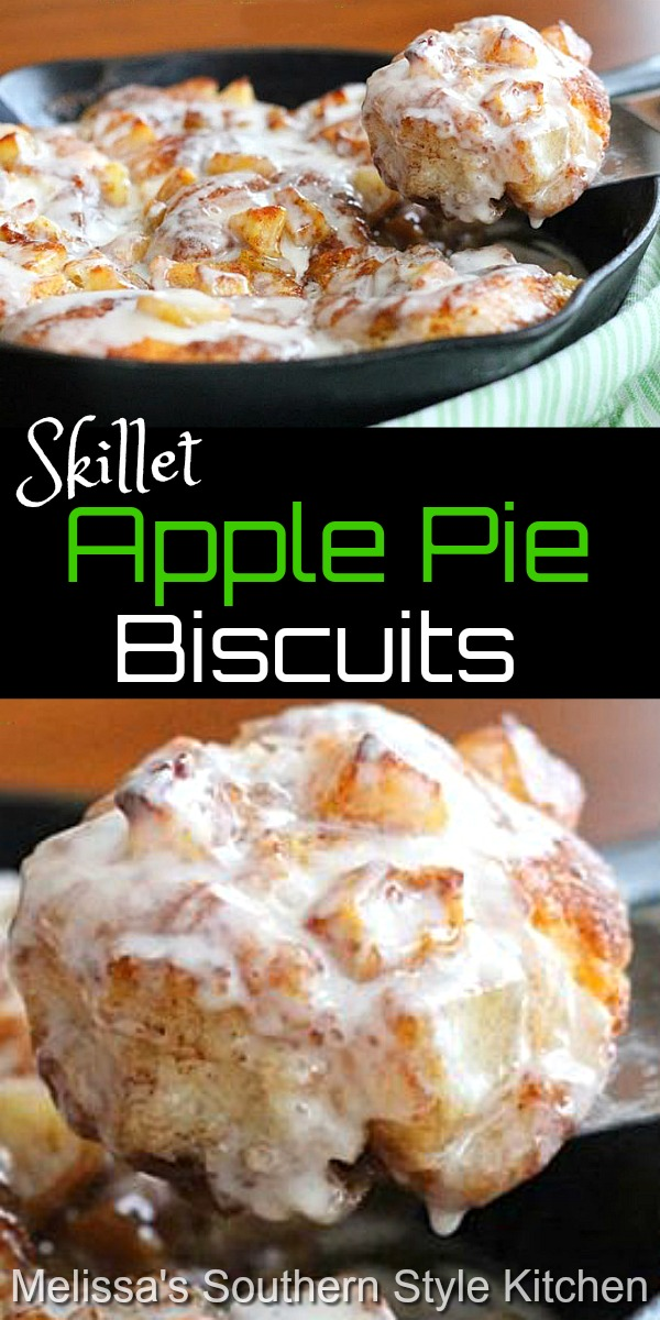 Breakfast or dessert these easy Apple Pie Biscuits are a fusion dish that's impossible to resist #applepie #applepiebiscuits #biscuits #brunch #breakfast #recipes #sweets #dessertfoodrecipes #desserts #southernfood #southernrecipes #holidaybrunch #apples #pie