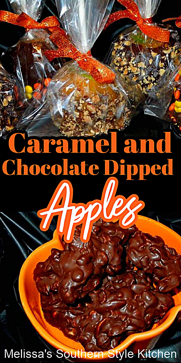 You'll create memories and enjoy a taste of nostalgia when you make these Caramel and Chocolate Dipped Apples with the kiddos #caramelapples #chocolaapples #chocolate #caramel #falldesserts #howtomakecaramelapples #Thanksgiving #apples #harvestrecipes #applerecipes