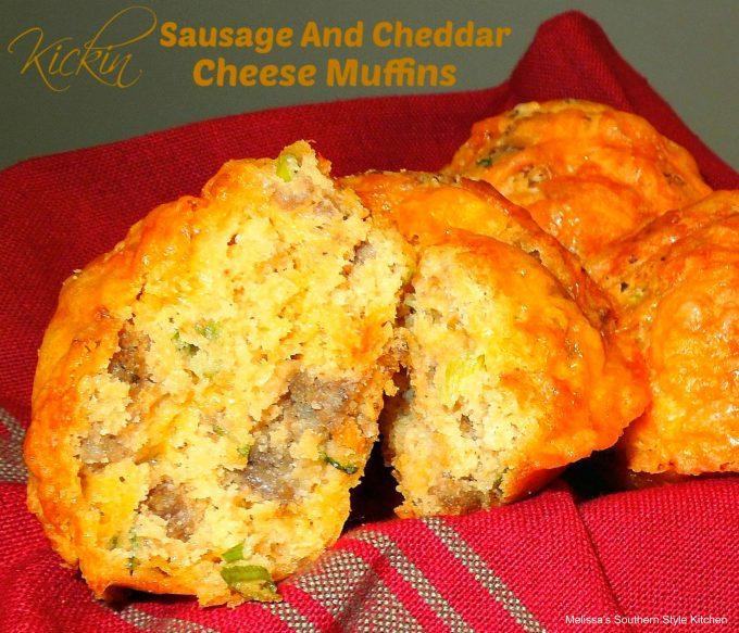 Kickin' Sausage And Cheddar Cheese Muffins