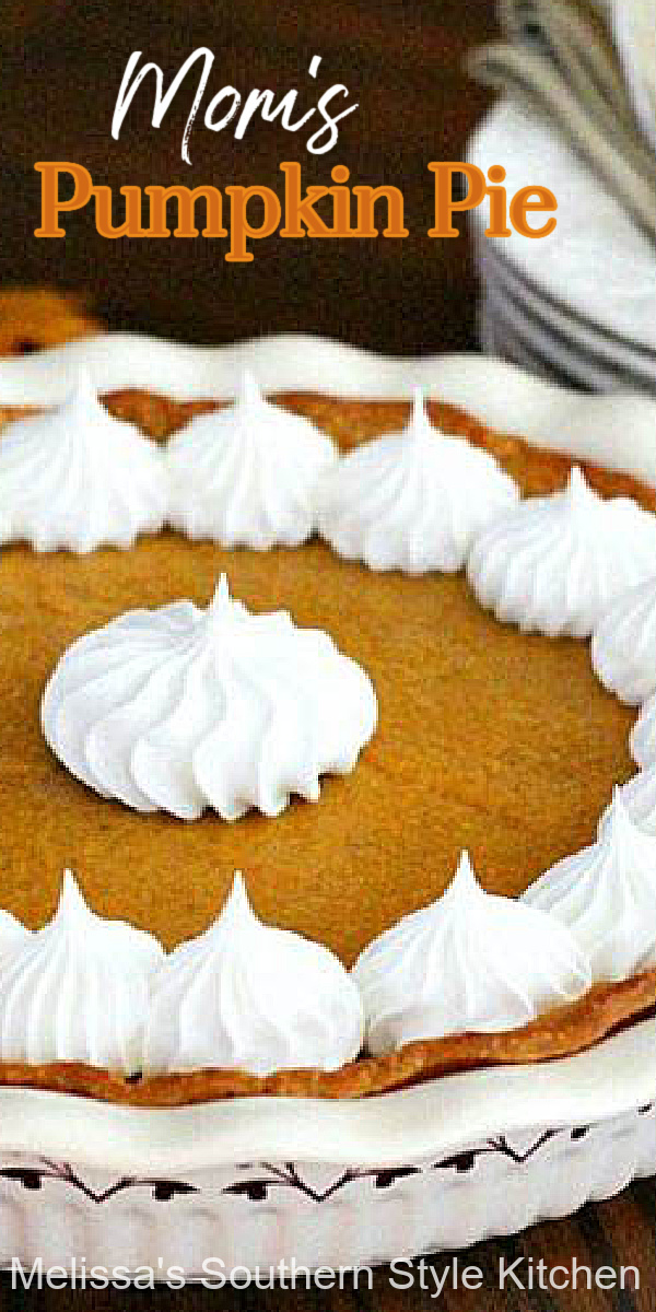 Take the fuss out of desserts this thanksgiving with Mom's Pumpkin Pie that features a filling made on the stovetop #pumpkinpie #bestpumpkinpie #easypumpkinpie #southernfood #thanksgivingrecipes #holidaybaking #fallrecipes #pumpkin #pierecipes #southernrecipes