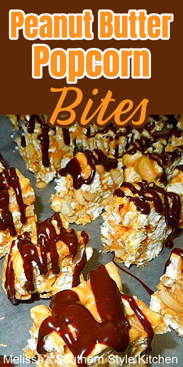 Peanut Butter Popcorn Bites
