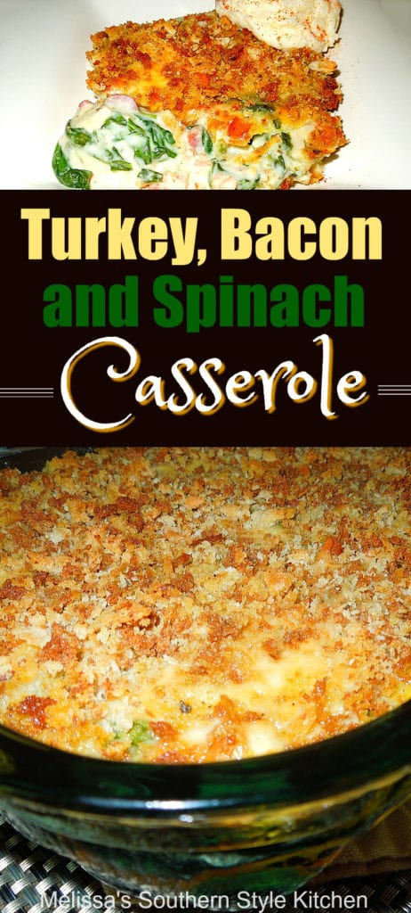 Turkey Bacon and Spinach Casserole