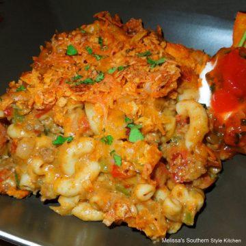 Nacho Beef And Macaroni recipe