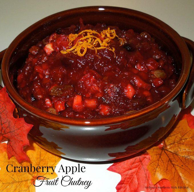 Cranberry Apple Fruit Chutney