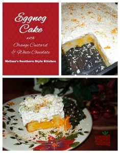 Eggnog Cake With Orange Custard And White Chocolate