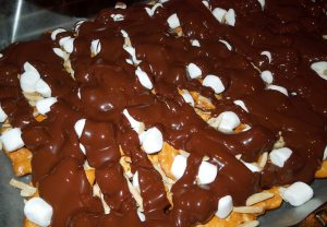 Rocky Road Pretzel Bark