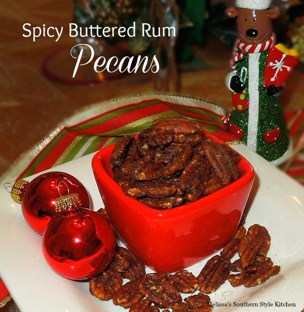 Spicy Buttered Rum Pecans