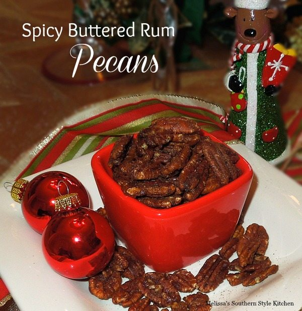 Spicy Buttered Rum Pecans