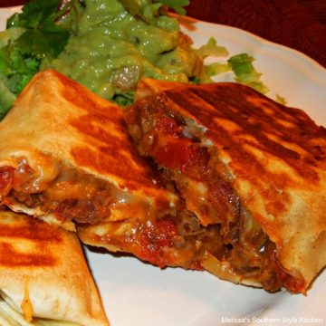 Grilled Shredded Beef Chimichangas with leftover pot roast