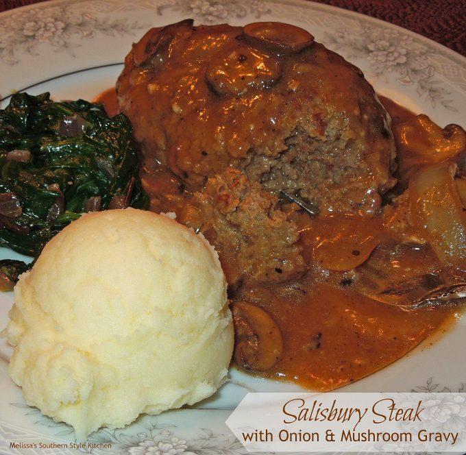 Salisbury Steak with Onion And Mushroom Gravy ...