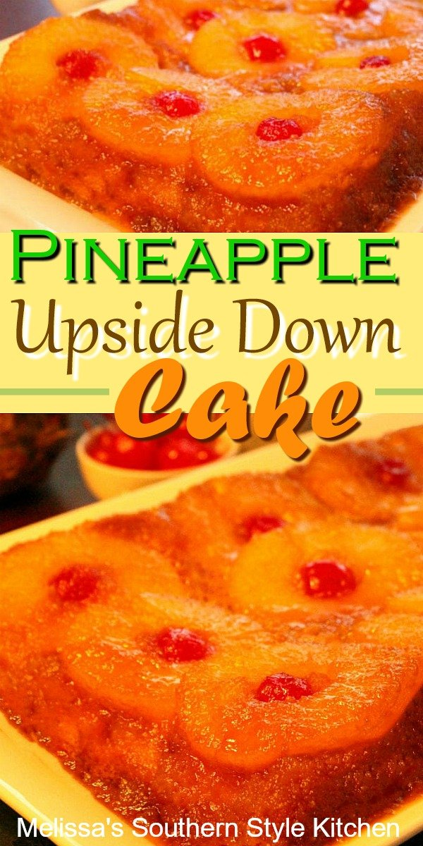 Fresh pineapple sets this Pineapple Upside Down Cake apart from the rest #pineapple #pineapplecake #cakerecipes #freshpineapple #dessertfoodrecipes #desserts #southernrecipes #southernfood