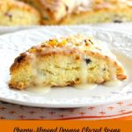 Cherry Almond Orange Glazed Scones